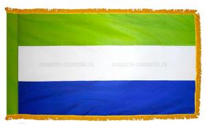 Флаг Сьерра-Леоне с бахромой