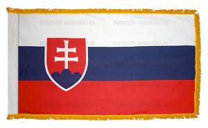 Флаг Словакии с бахромой