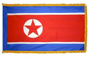 Флаг Северной Кореи с бахромой