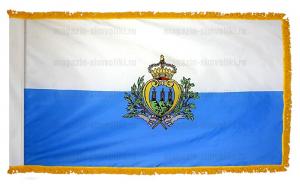 Флаг Сан Марино с бахромой