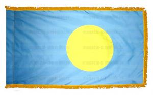 Флаг Палау с бахромой