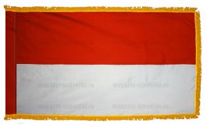 Флаг Монако с бахромой