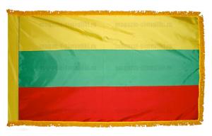 Флаг Литвы с бахромой