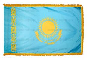 Флаг Казахстана с бахромой