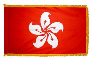 Флаг Гонконга с бахромой