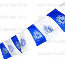 Флажная гирлянда со своим логотипом/картинкой