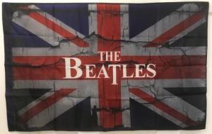 Флаг Великобритании с надписью The Beatles
