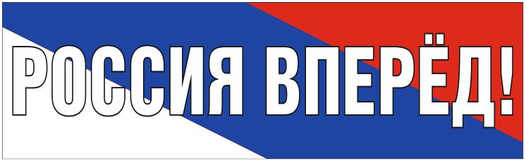 Растяжка Россия Вперёд !