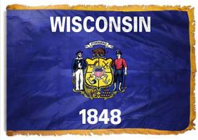 Флаг Штата Висконсин с бахромой