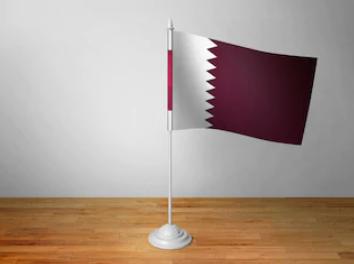 Флаг Катара настольный на подставке