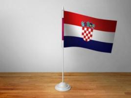 Флаг Хорватии настольный на подставке