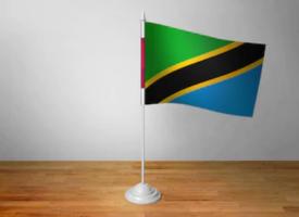 Флаг Танзании настольный на подставке