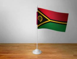 Флажок Вануату настольный на подставке