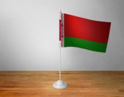 Флажок Белоруссии настольный на подставке