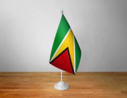 Флажок Гайаны настольный на подставке