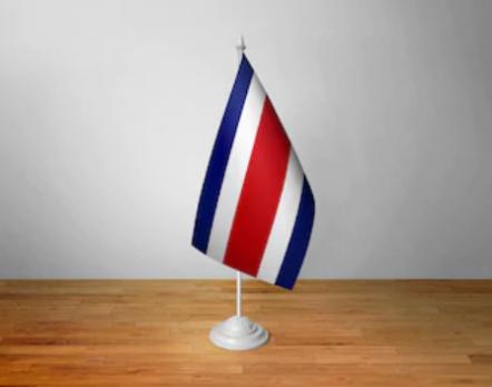 Флажок Коста-Рики настольный на подставке