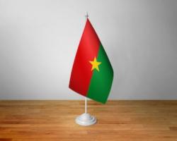 Флажок Буркина-Фасо настольный на подставке