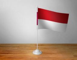 Флажок Индонезии настольный на подставке