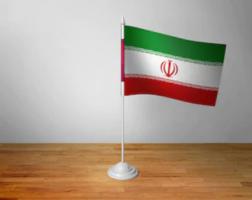 Флажок Ирана настольный на подставке