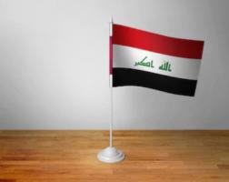 Флажок Ирака настольный на подставке