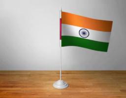 Флажок Индии настольный на подставке