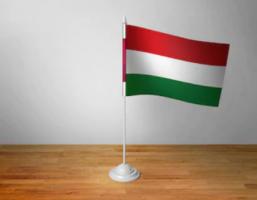 Флажок Венгрии настольный на подставке