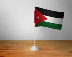 Флажок Иордании настольный на подставке