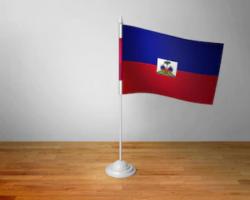 Флажок Гаити настольный на подставке