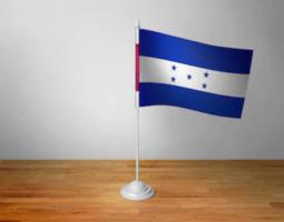 Флажок Гондураса настольный на подставке
