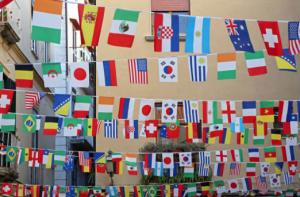 Гирлянда из флажков (флаги стран)