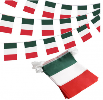 Флажная гирлянда с флагом Италии