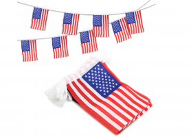 Флажная гирлянда с флагом США