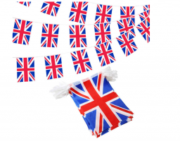Флажная гирлянда с флагом Великобритании