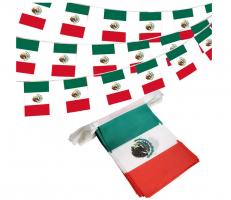 Флажная гирлянда с флагом Мексики