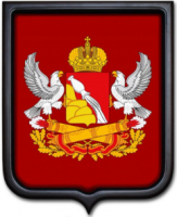 Герб Воронежской области 35х43 см