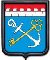 Герб Ленинградской области 35х43 см