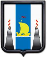 Герб Сахалинской области 35х43 см