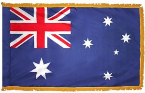 Флаг Австралии с бахромой