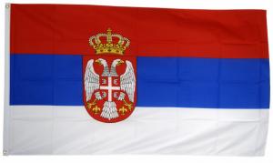 Флаг Сербии 90x135 см