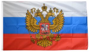 Флаг России с гербом 90x135 см