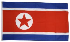 Флаг КНДР 90x135 см