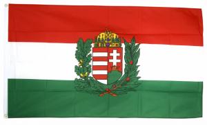 Флаг Венгрии с гербом 90x135 см