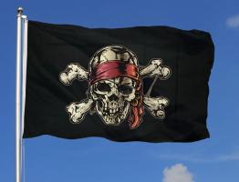 Пиратский флаг 90x135 см