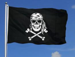 Флаг пиратский 90x135 см