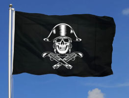 Флаг пиратов 90x135 см