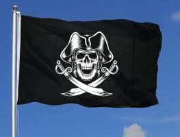 Пиратский флаг с саблями 90x135 см