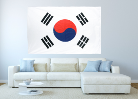 Большой флаг Южной Кореи 140x210 см