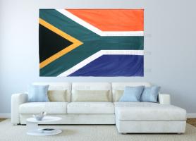 Большой флаг ЮАР 140x210 см