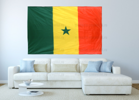 Большой флаг Сенегала 140x210 см