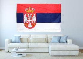 Большой флаг Сербии 140x210 см